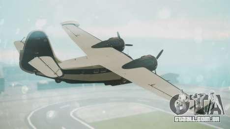 Grumman G-21 Goose Black and White para GTA San Andreas esquerda vista