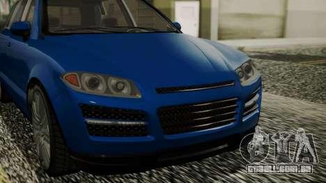 GTA 5 Obey Rocoto IVF para GTA San Andreas vista direita