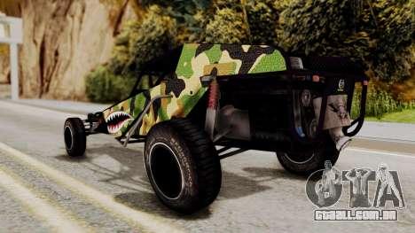 Buggy Camo Shark Mouth para GTA San Andreas traseira esquerda vista