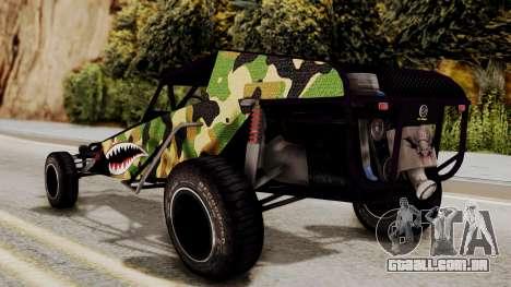 Buggy Camo Shark Mouth para GTA San Andreas esquerda vista