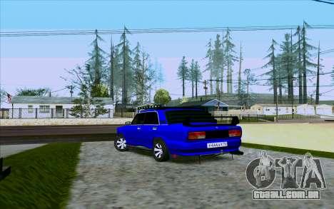 VAZ 2107 Tuning para GTA San Andreas traseira esquerda vista