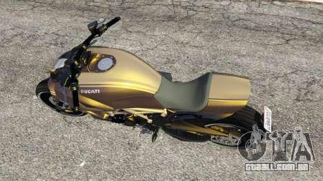 GTA 5 Ducati Diavel Carbon 11 v1.1 voltar vista