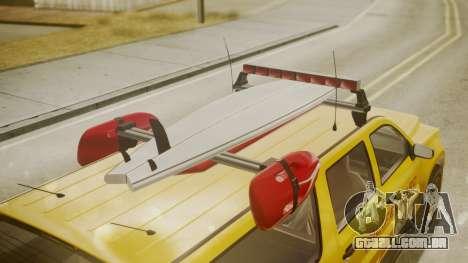 GTA 5 Declasse Granger Lifeguard para GTA San Andreas vista direita