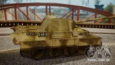 Panzerkampfwagen V Ausf. A Panther para GTA San Andreas traseira esquerda vista