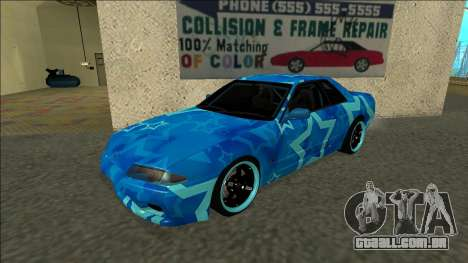 Nissan Skyline R32 Drift Blue Star para GTA San Andreas