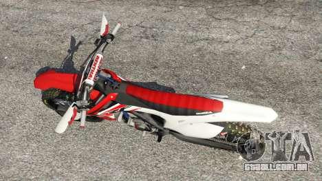 GTA 5 Honda CRF450 2015 voltar vista