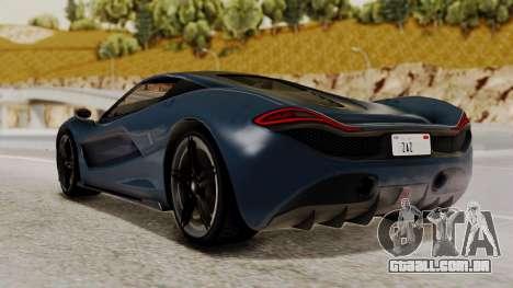 Citric Progen T20 para GTA San Andreas esquerda vista
