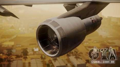 Boeing 747-200 Fly US para GTA San Andreas vista direita