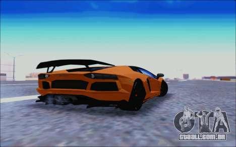 Lamborghini Aventador MV.1 [IVF] para GTA San Andreas vista traseira