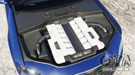GTA 5 Audi A8 traseira direita vista lateral