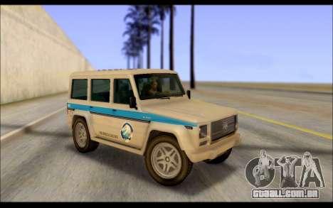 Benefactor Dubsta Jurassic Mundo Paintjob para GTA San Andreas