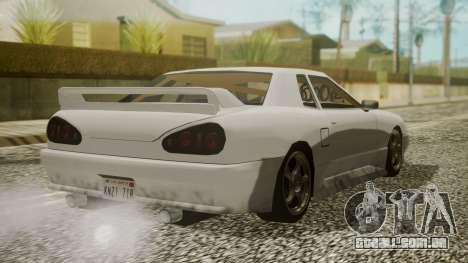 Elegy NR32 without Neon para GTA San Andreas esquerda vista