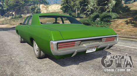 GTA 5 Dodge Polara 1971 v1.0 traseira vista lateral esquerda