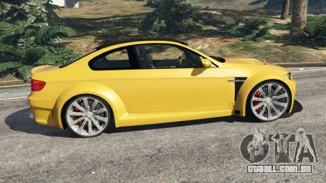 GTA 5 BMW M3 (E92) WideBody v1.1 vista lateral esquerda
