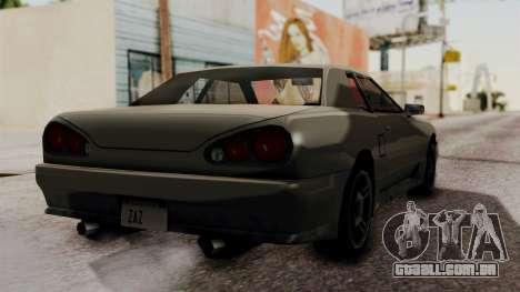 Elegy The Gold Car 2 para GTA San Andreas esquerda vista