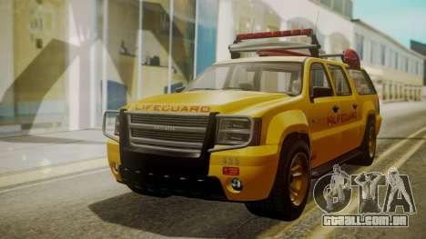GTA 5 Declasse Granger Lifeguard IVF para GTA San Andreas