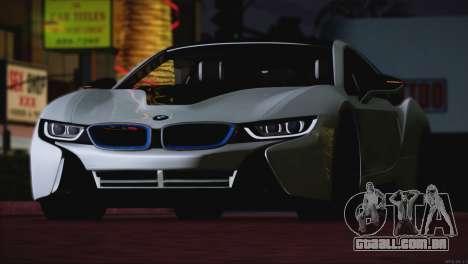 BMW i8 Coupe 2015 para vista lateral GTA San Andreas