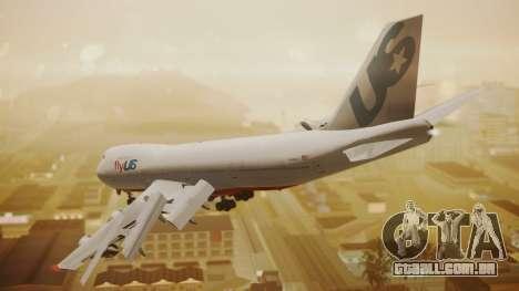 Boeing 747-200 Fly US para GTA San Andreas esquerda vista