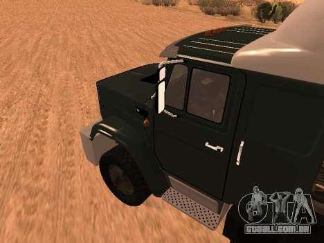 ZIL-133 05A para GTA San Andreas traseira esquerda vista