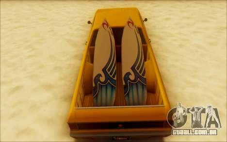 Cheval Picador Surfista para GTA San Andreas vista traseira