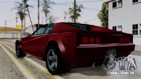 Cheetah from Vice City Stories para GTA San Andreas esquerda vista