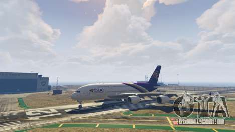 GTA 5 Airbus A380-800 v1.1 sétima screenshot