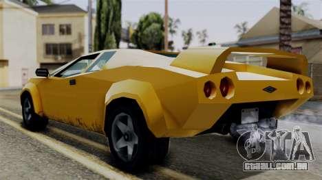 Infernus from Vice City Stories para GTA San Andreas esquerda vista