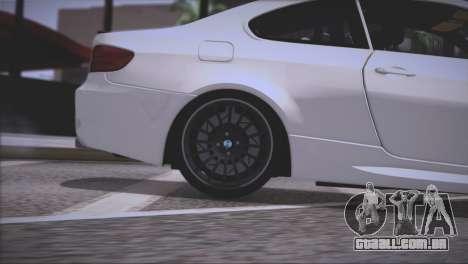 BMW M3 E92 2008 para as rodas de GTA San Andreas