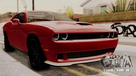 Dodge Challenger SRT Hellcat 2015 HQLM para GTA San Andreas