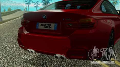 BMW M4 Coupe 2015 para vista lateral GTA San Andreas