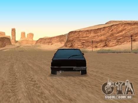 VAZ 2108 para vista lateral GTA San Andreas