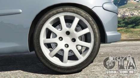 GTA 5 Peugeot 206 GTI traseira direita vista lateral