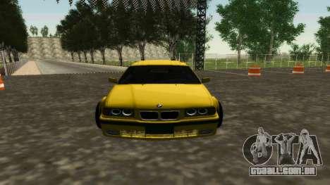 BMW 320i E36 Wide Body Kit para GTA San Andreas esquerda vista