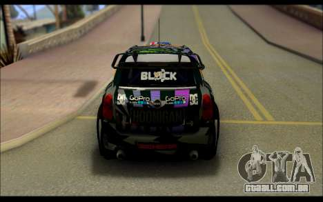 Mini Cooper Gymkhana 6 with Drift Handling para GTA San Andreas vista traseira