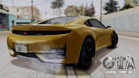 Dinka Jester Sparkle para GTA San Andreas esquerda vista