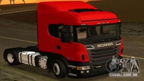 Scania R420 4x2 para GTA San Andreas esquerda vista