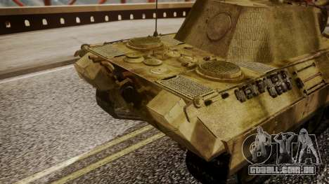 Panzerkampfwagen V Ausf. A Panther para GTA San Andreas vista direita