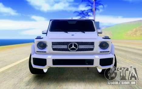 Mercedes-Benz G65 AMG para GTA San Andreas vista direita