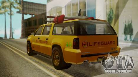 GTA 5 Declasse Granger Lifeguard IVF para GTA San Andreas esquerda vista