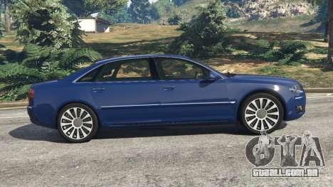 GTA 5 Audi A8 vista lateral esquerda