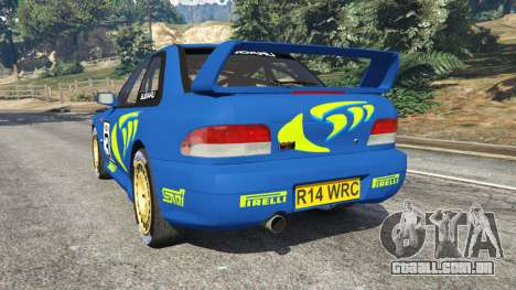 GTA 5 Subaru Impreza WRC 1998 traseira vista lateral esquerda