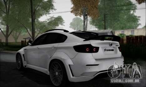 BMW X6M HAMANN Final para GTA San Andreas vista traseira