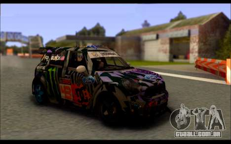 Mini Cooper Gymkhana 6 with Drift Handling para GTA San Andreas esquerda vista