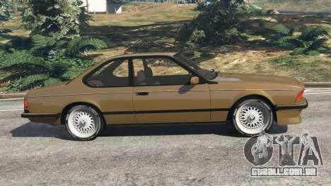 GTA 5 BMW M635 CSI (E24) 1986 vista lateral esquerda