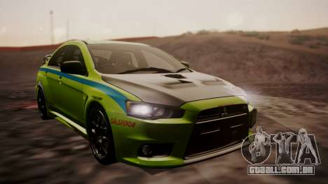 Mitsubishi Lancer Evolution X 2015 Final Edition para GTA San Andreas vista direita