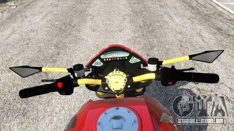 GTA 5 Honda CB1000R traseira direita vista lateral