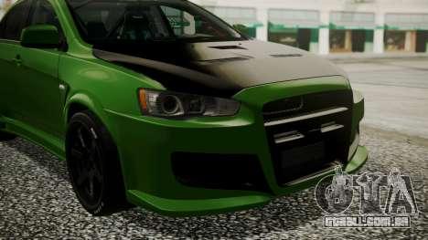 Mitsubishi Lancer Evolution X WBK para GTA San Andreas vista traseira