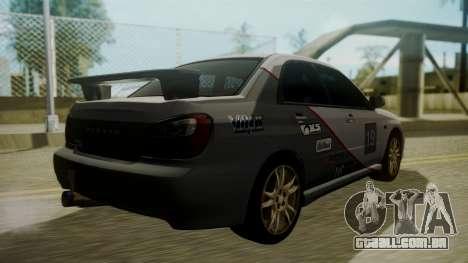 Subaru Impreza WRX GDA para GTA San Andreas vista inferior