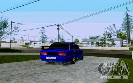 VAZ 2107 Tuning para GTA San Andreas vista direita