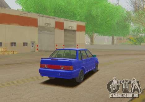 VAZ 2115 Escoamento para GTA San Andreas esquerda vista